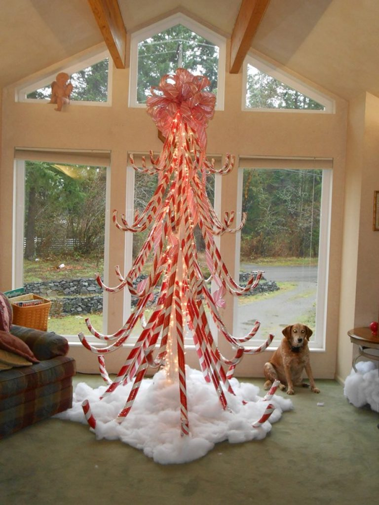 Candy Cane decorations idea for Christmas window