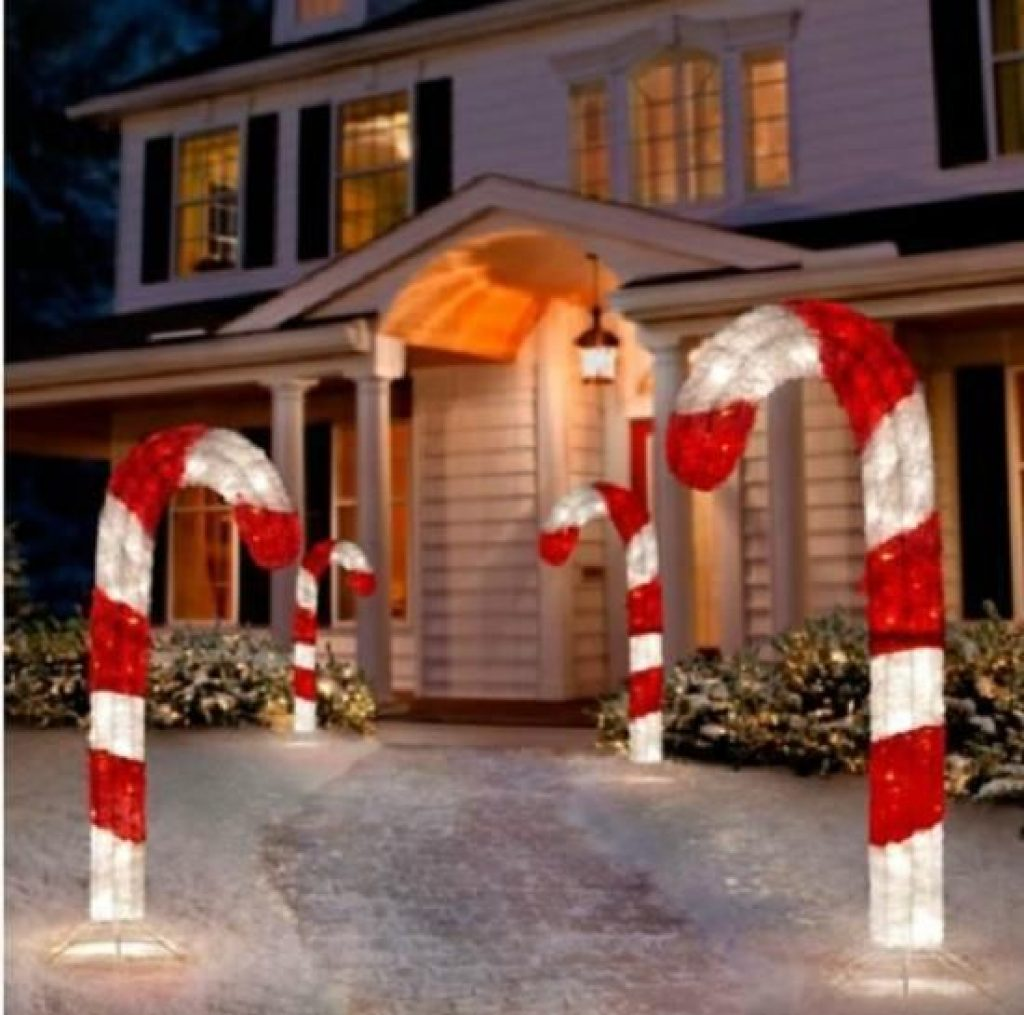 Christmas Candy Cane outdoor decorations idea