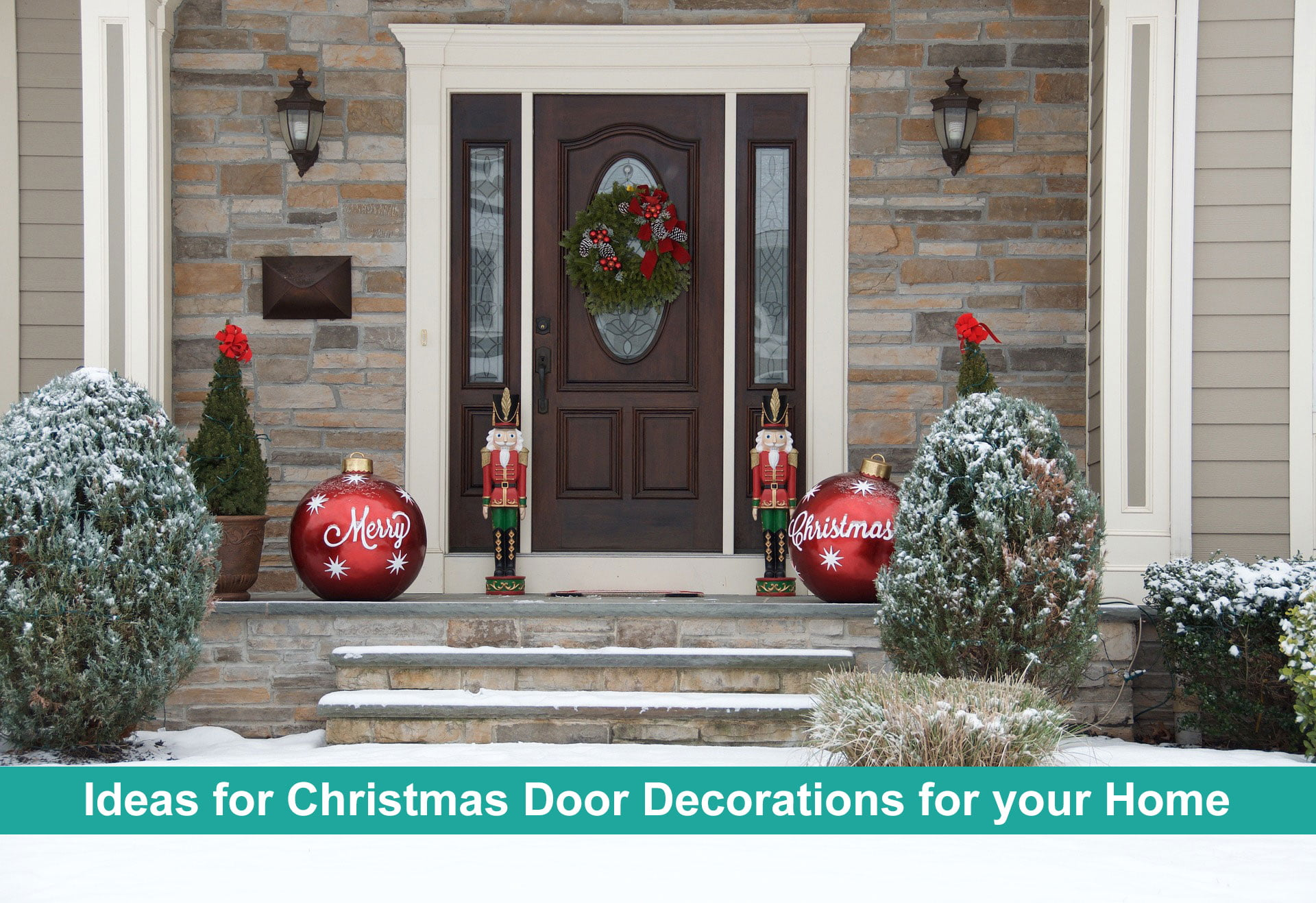 Ideas for Christmas Door Decorations for your Home