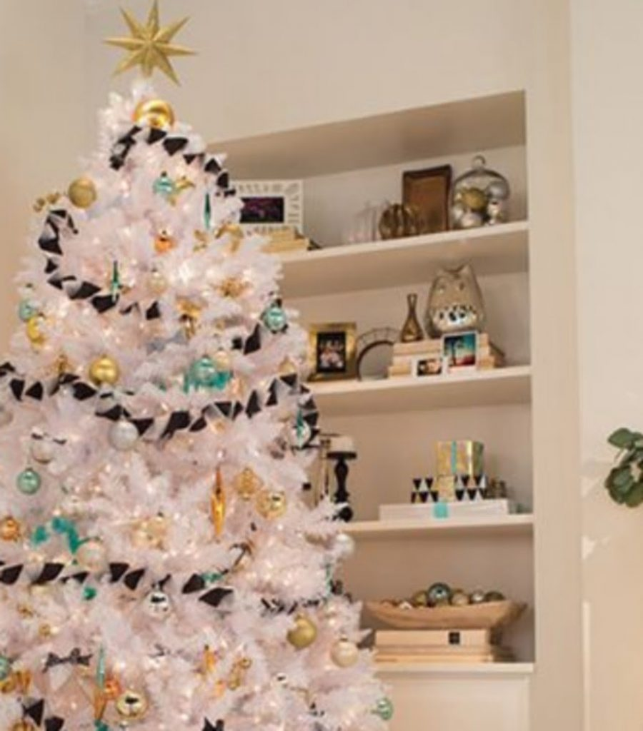 Use Black - Christmas Decorations For Snowy Tree