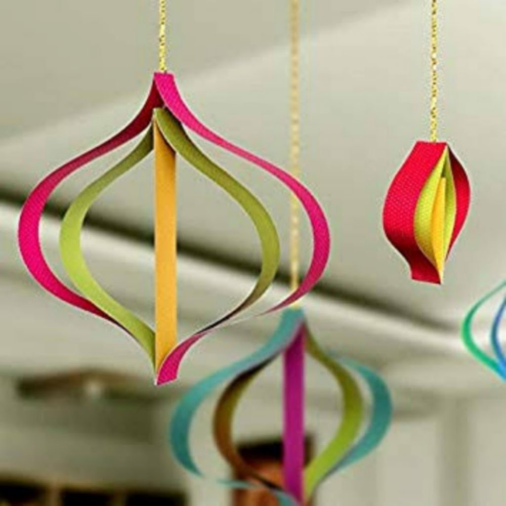 3D Paper Ornaments - Easy Craft Ideas For Christmas Decorations