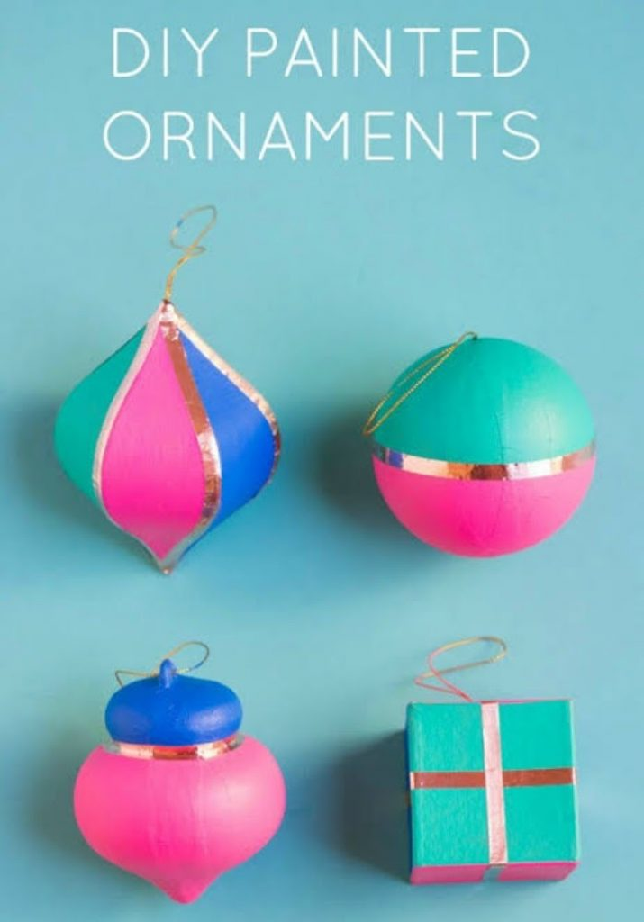 Painted Copper Foil Ornament - Easy Craft Ideas For Christmas Decorations