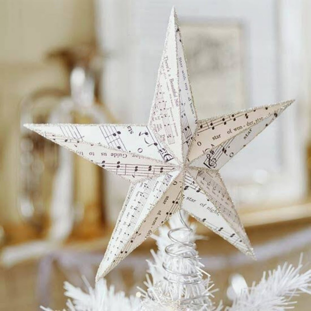 Star Ornament - Paper Craft Ideas For Christmas Decorations