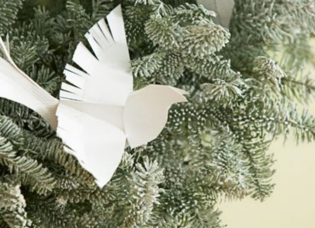 Origami Bird Ornament - Paper Craft Ideas For Christmas Decorations
