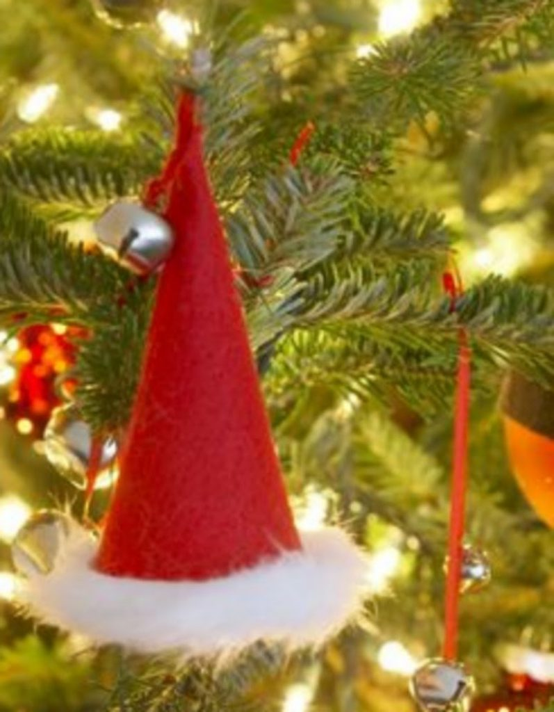 Paper cone christmas hat - Paper Craft Ideas For Christmas Decorations