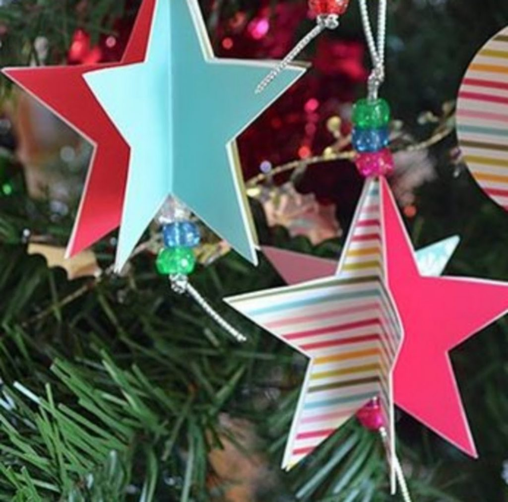 Paper Star Ornament - Paper Craft Ideas For Christmas Decorations