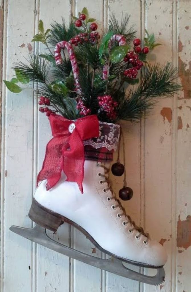 Hang Christmas Boots on the Walls - Best Christmas Decoration Ideas for Office with Images