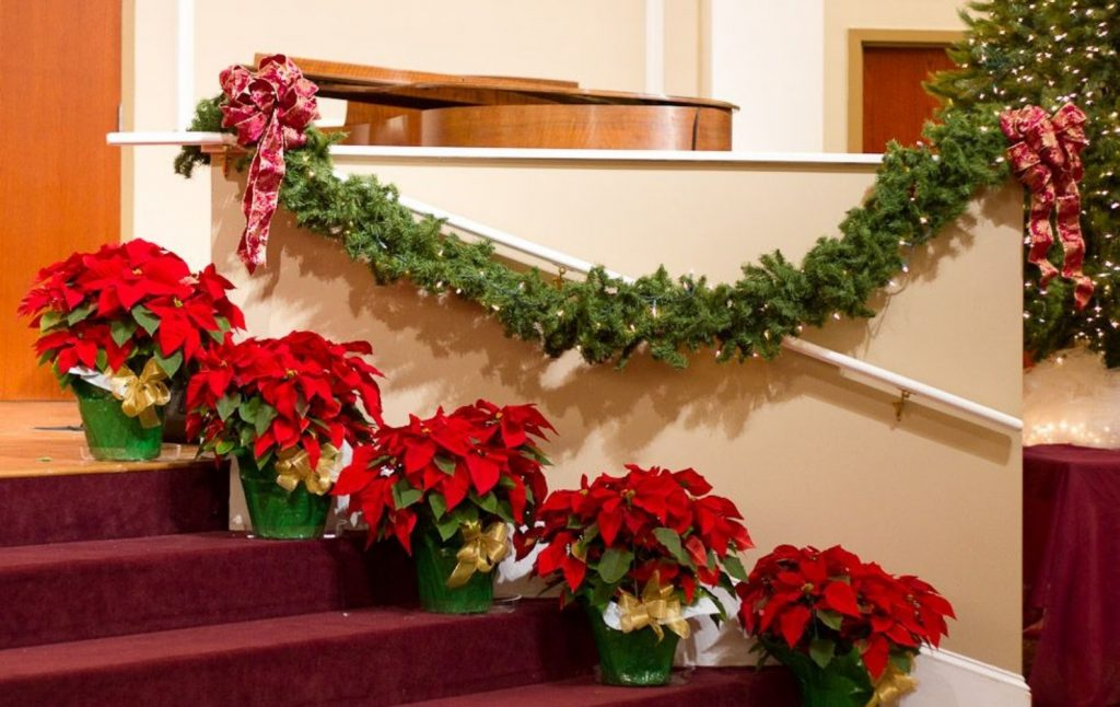 Deck The Entrance - Christmas Decorations For Church Wall