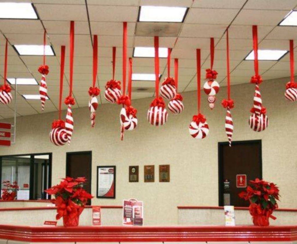 Hang Candy Canes - Best Christmas Decoration for indoor Office