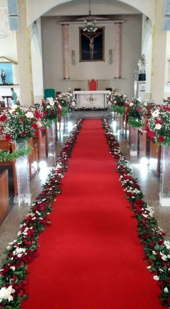 Floral Pathway - Christmas Flower Decorations For Church