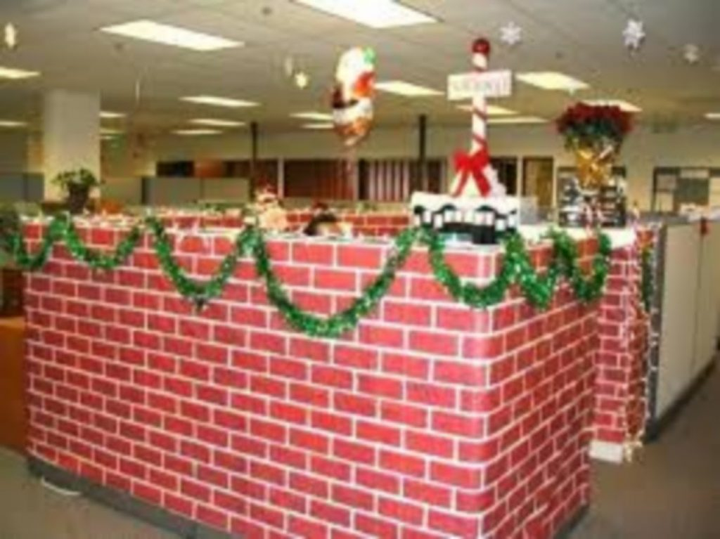 Give your Office a Brick Look - Best Christmas Decoration for indoor Office