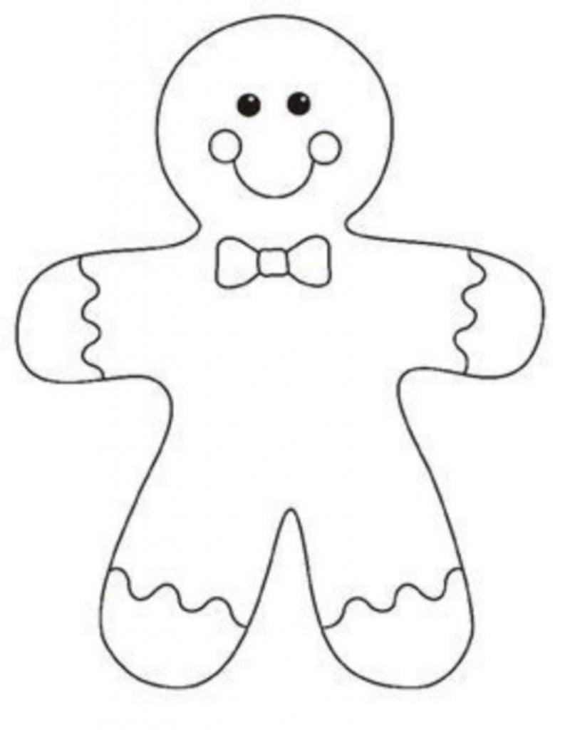 Gingerbread man Drawing of Christmas Decorations