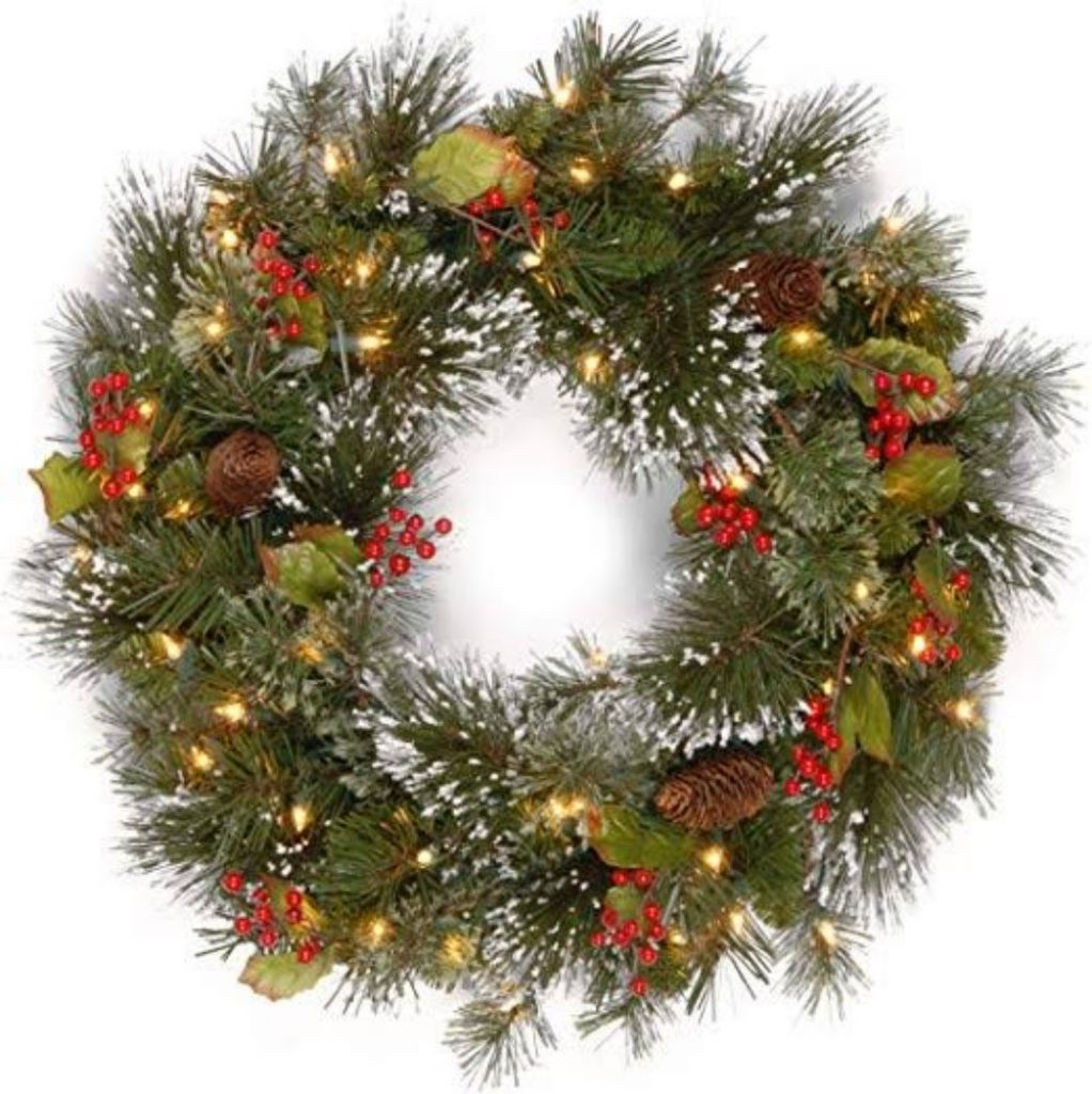 Decorate the Door with Christmas Wreath