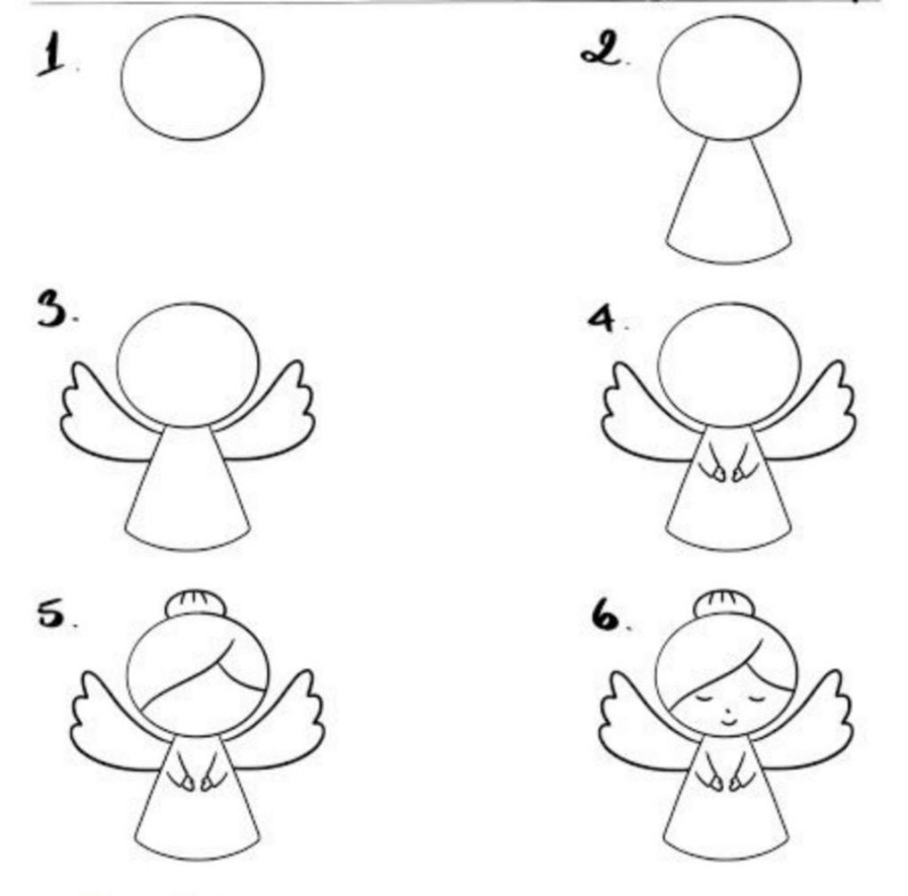 Get the Angel - Drawing of Christmas Decorations