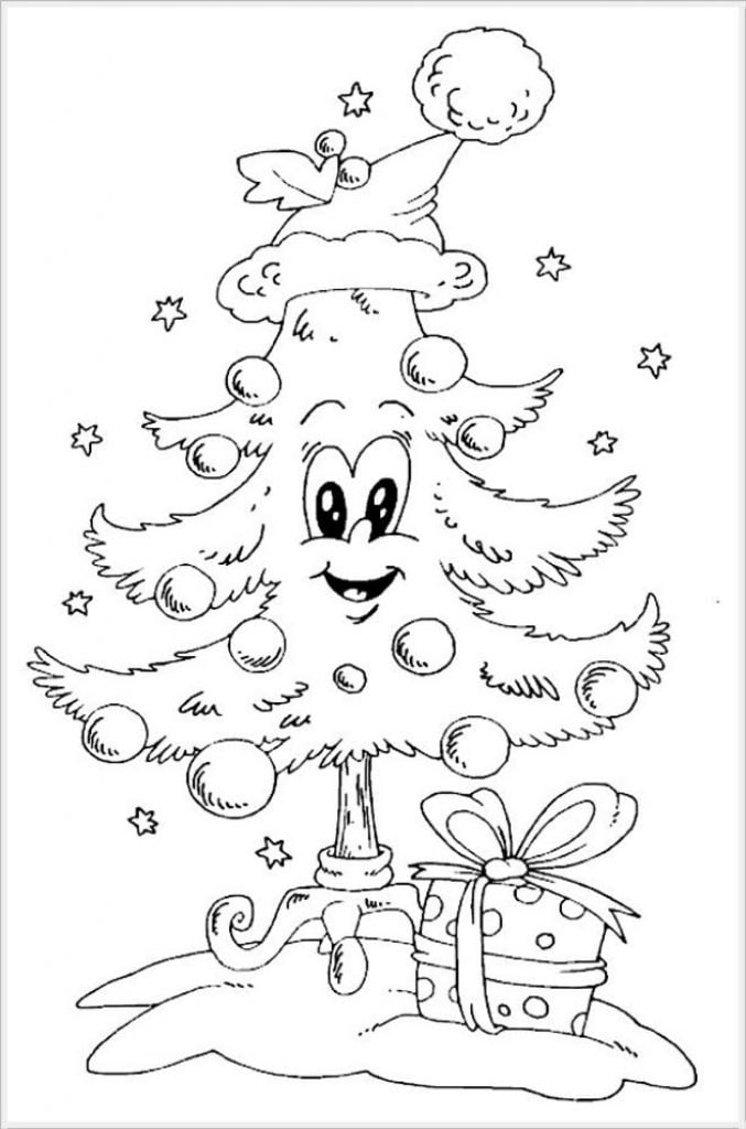 Animation Tree Drawing of Christmas Decorations