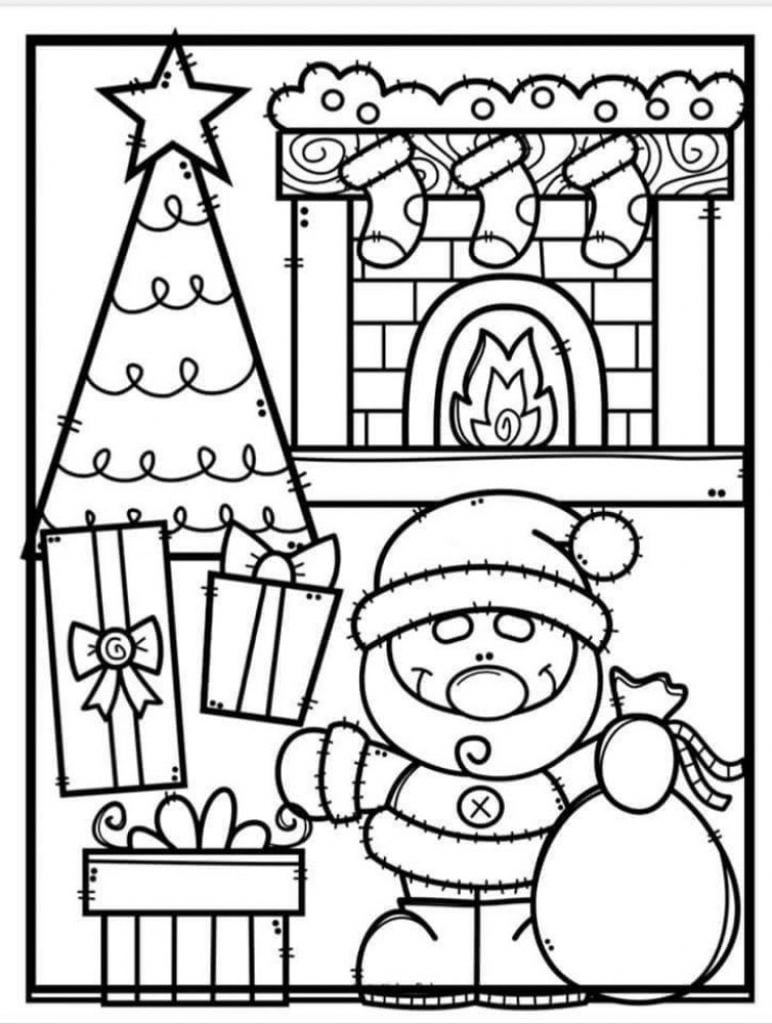 Fill with Gifts Drawing of Christmas Decorations