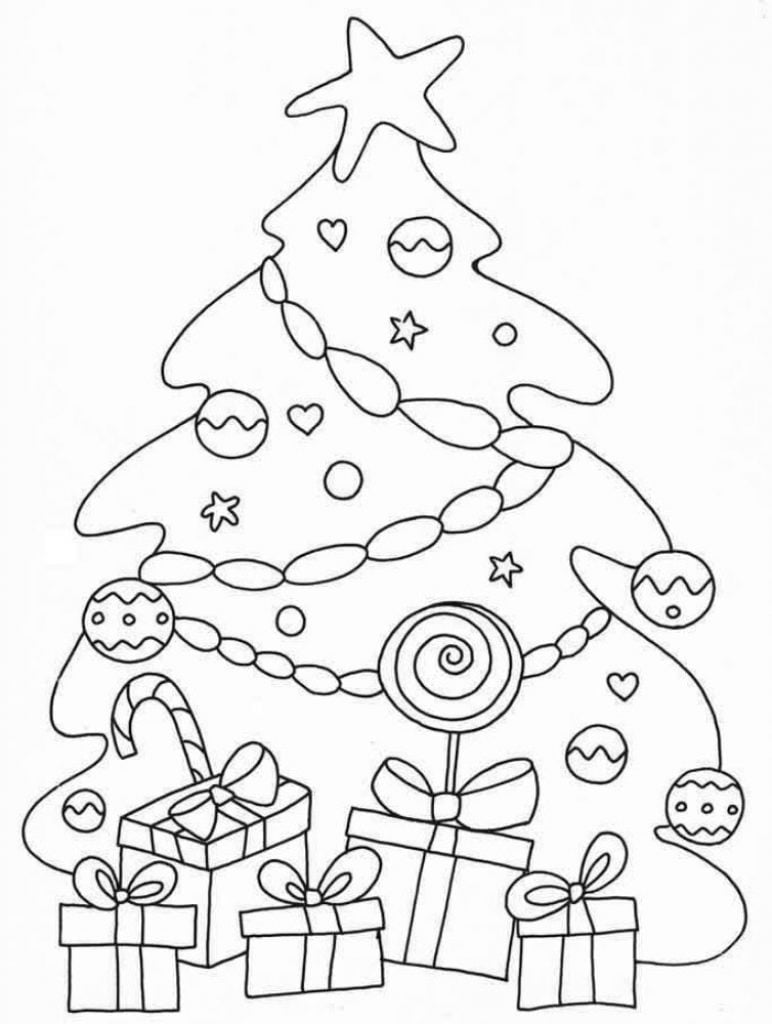 Candy tree Drawing of Christmas Decorations
