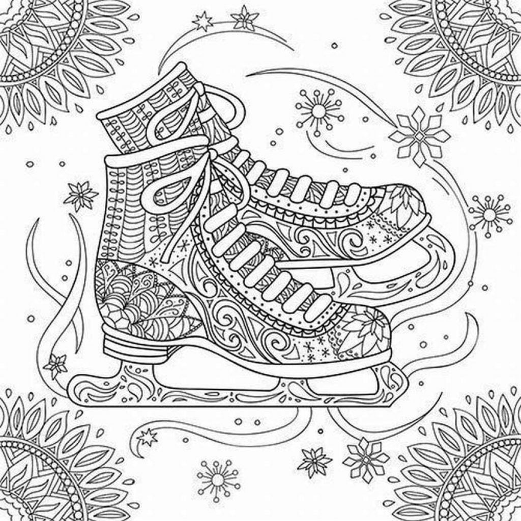 Snow skies Drawing of Christmas Decorations