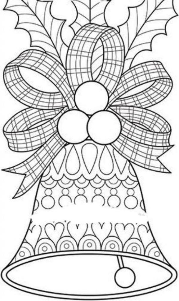 Bells Drawing of Christmas Decorations