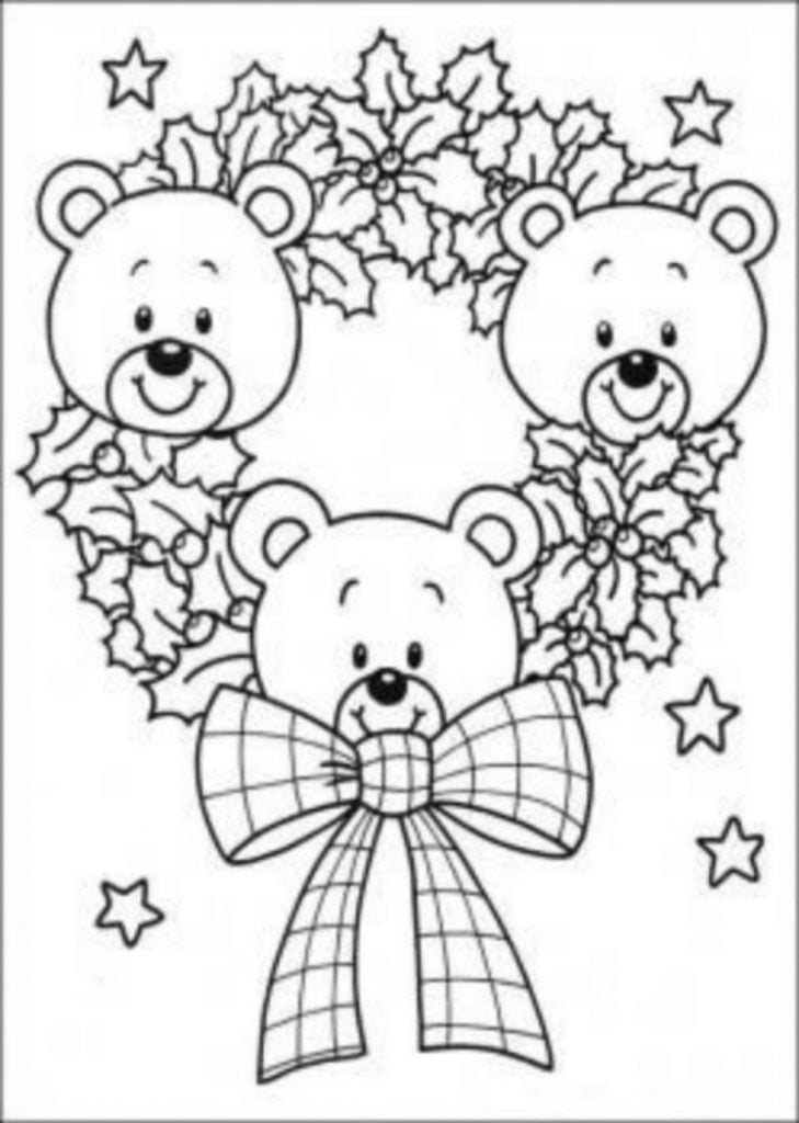 Bear wreath Drawing of Christmas Decorations