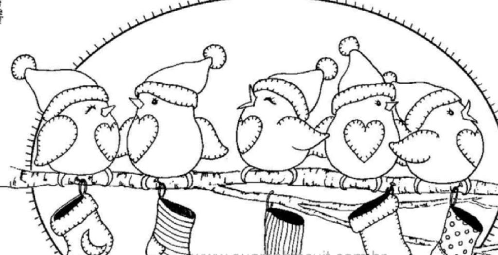 Chirping Cuckoo Drawing of Christmas Decorations
