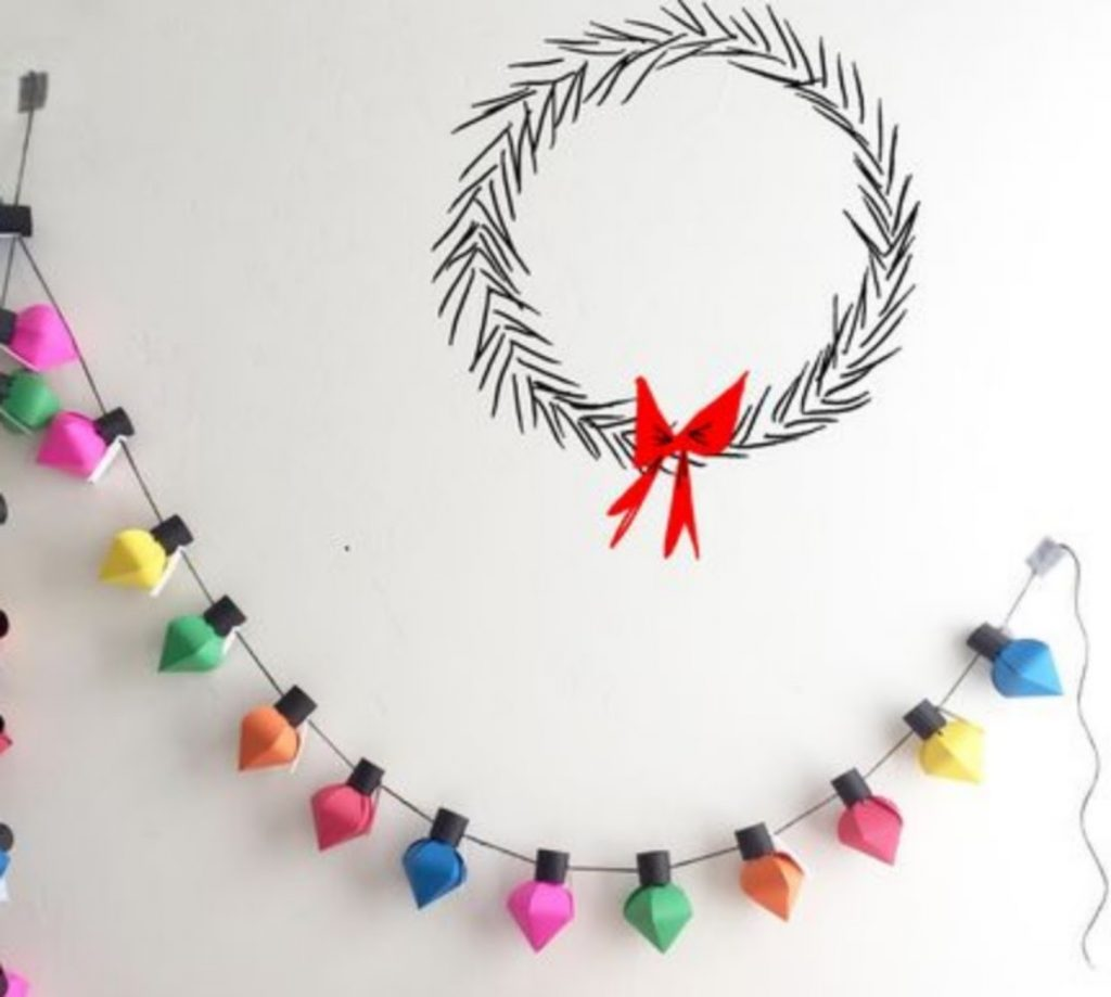 Make A Two-In-One Garland - Home With Christmas Decorations