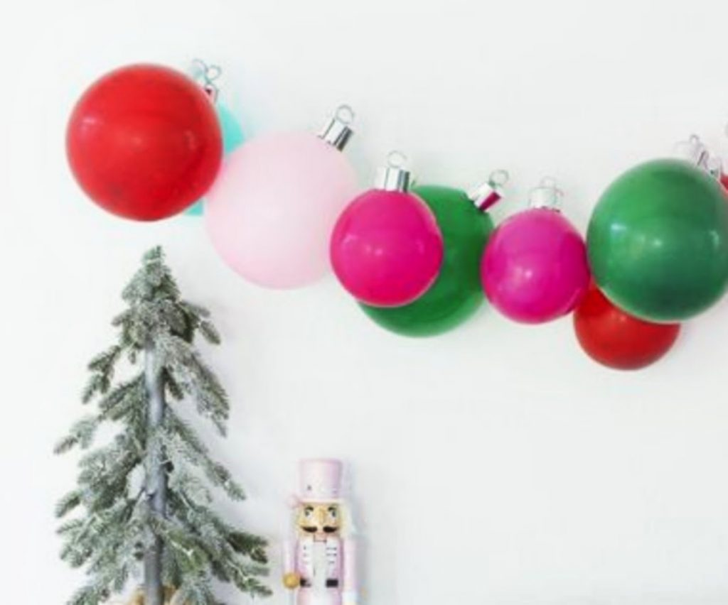 Get Playful With Balloons - Home With Christmas Decorations