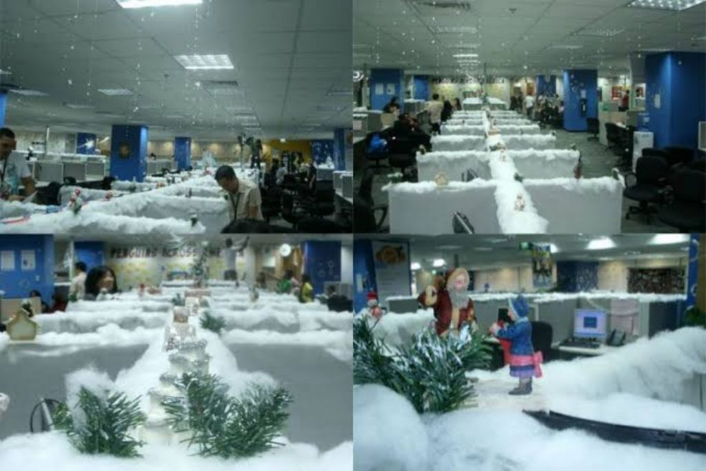Snow Capped indoor Office Decoration ideas