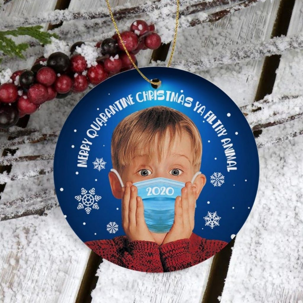 Home Alone Face Mask Christmas Ornament - Home With Christmas Decorations