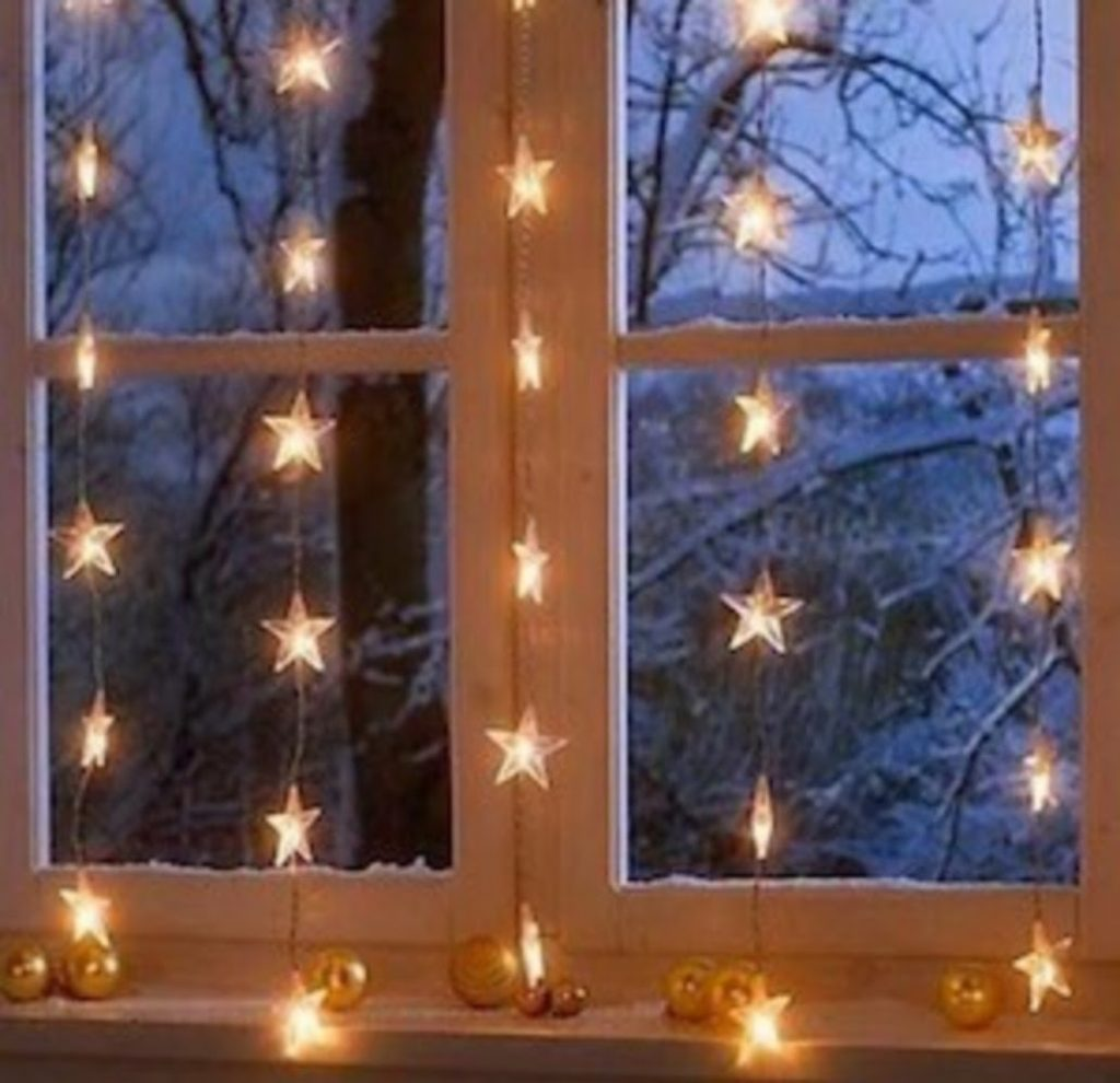 Star Curtains - Home With Christmas Decorations