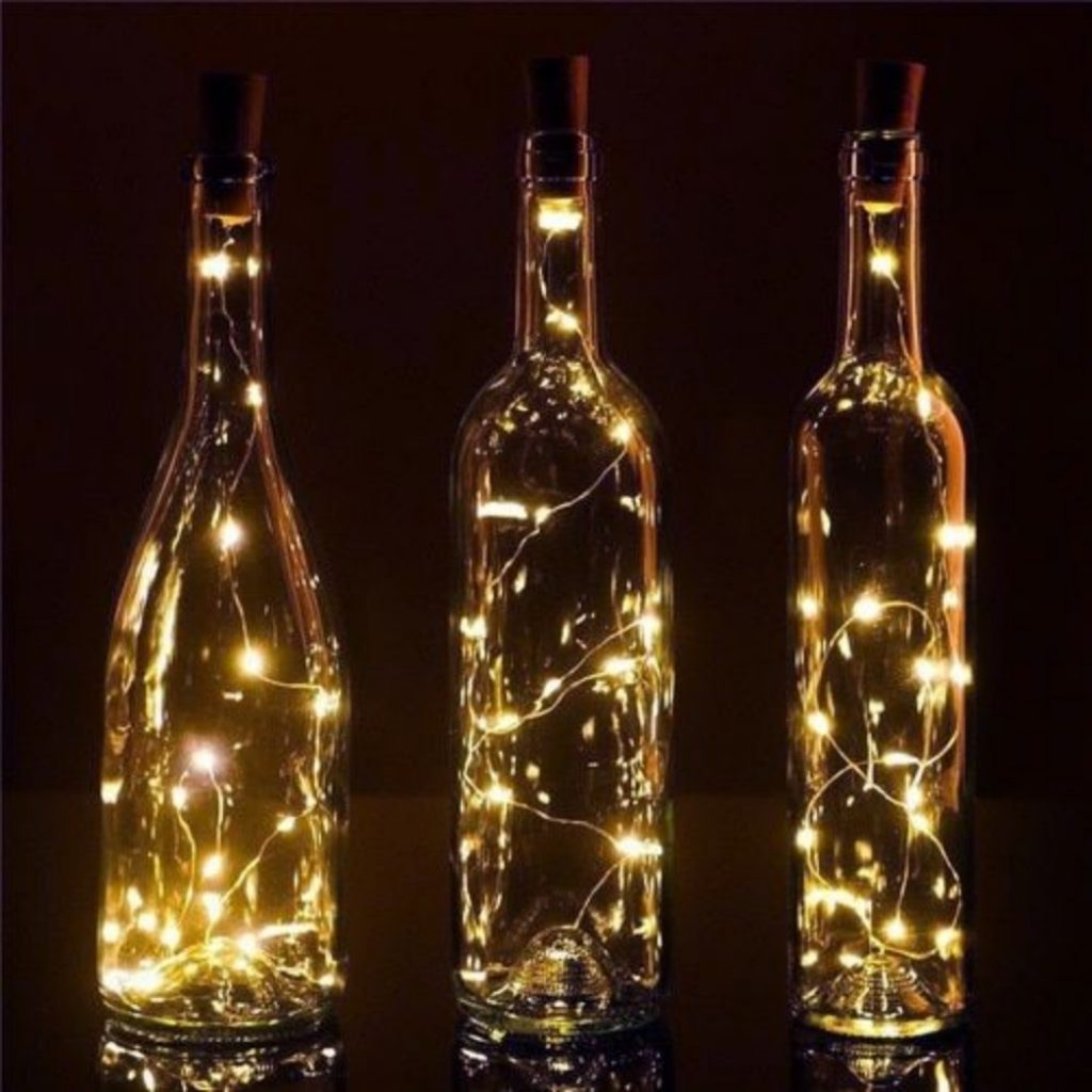 Wine lights - Home With Christmas Decorations