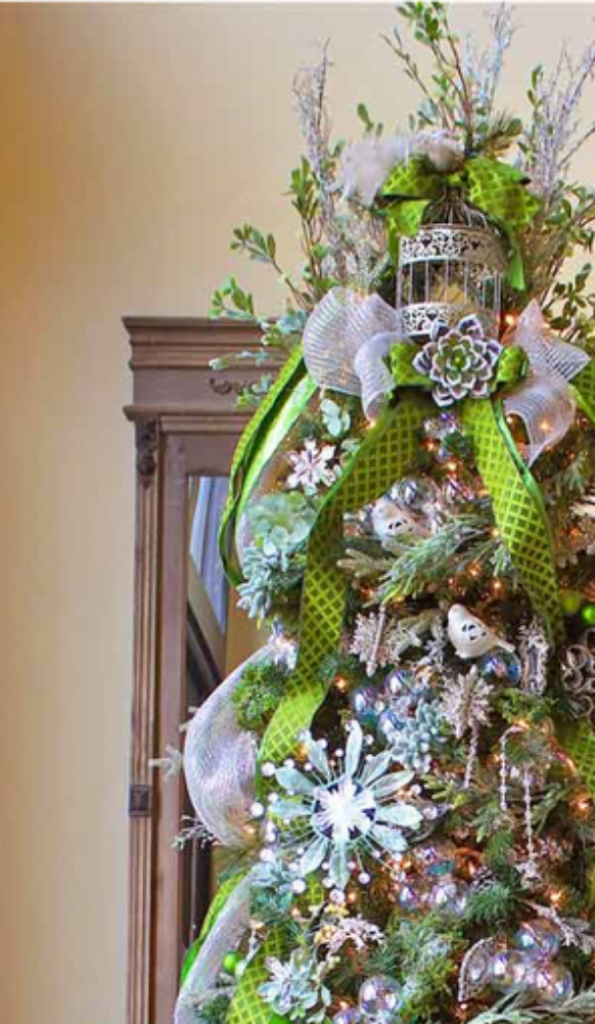 Green Greetings Tree - Christmas Decorations For Snowy Tree