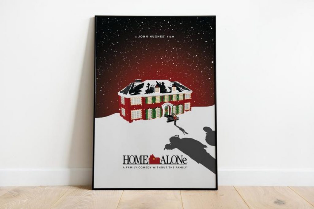 Home Alone print - Home With Christmas Decorations