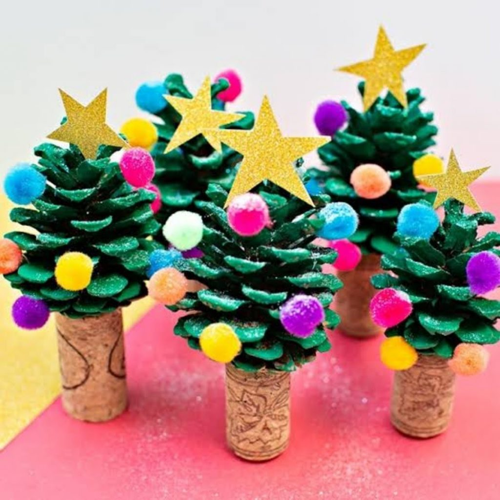 DIY Wooden Christmas Tree Forest - DIY 3D Christmas Decorations