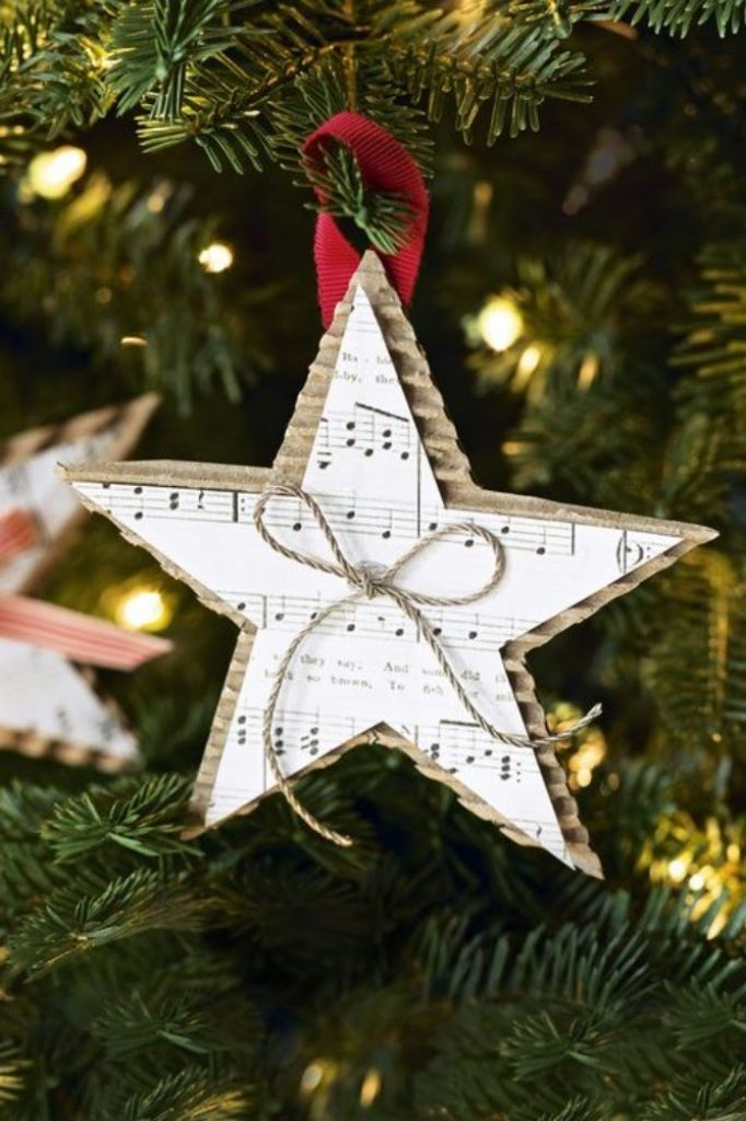 Christmas Song Ornament - DIY Christmas Decorations Cardboard And Paper