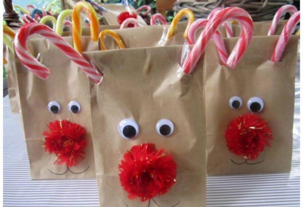 Rudolph Treat Bags - DIY Christmas Decorations For Your Classroom