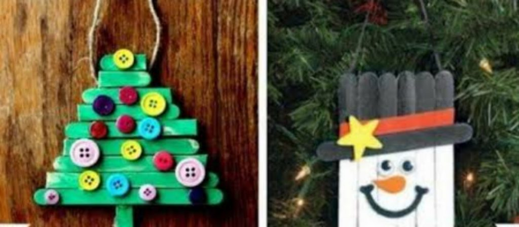 Popsicle ornaments - DIY Christmas Decorations For Your Classroom