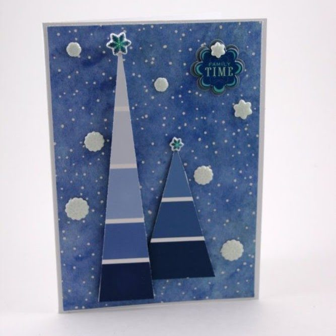Paint Chip Card Christmas Card Crafts For Preschoolers
