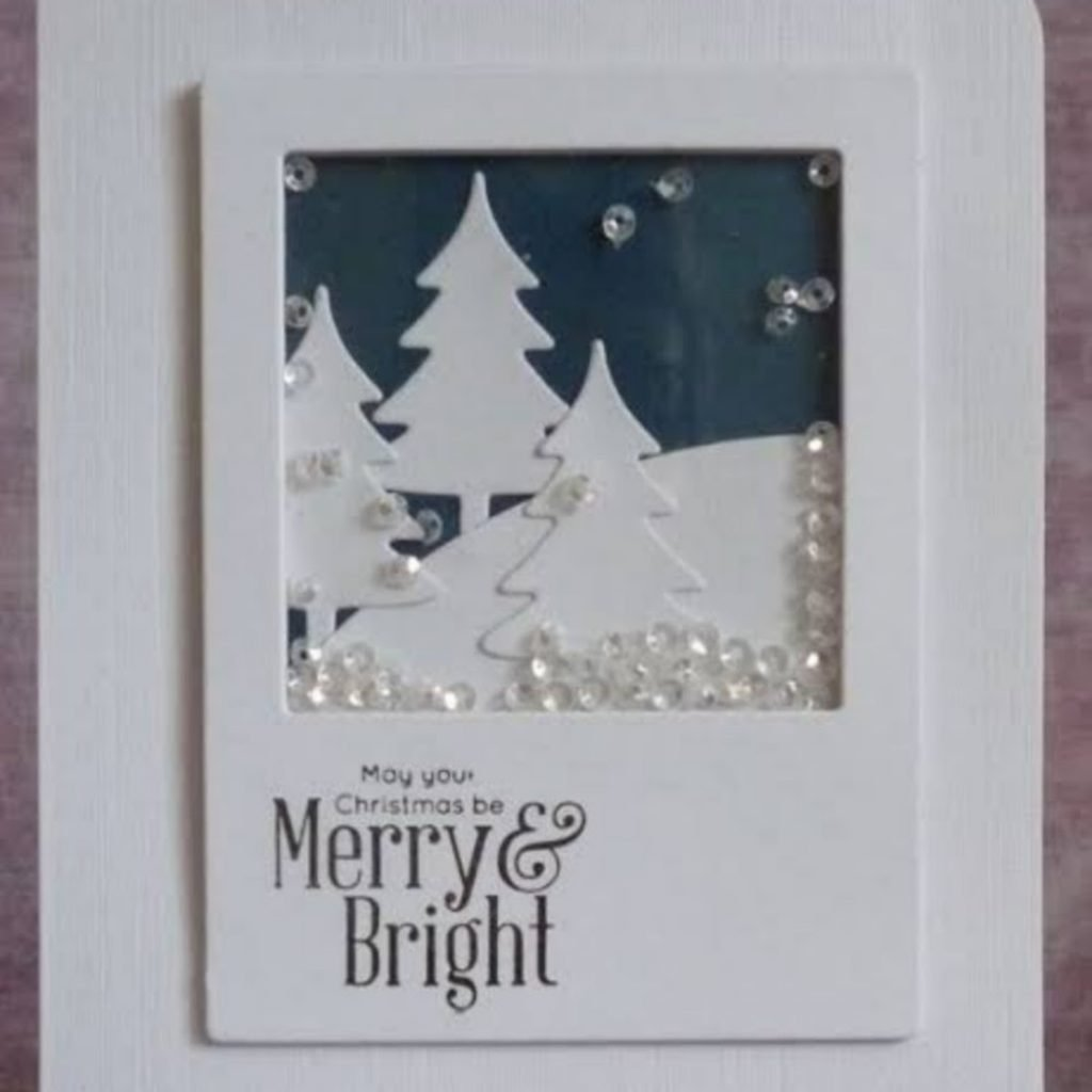 Confetti Snowglobe Card Christmas Card Crafts For Toddlers