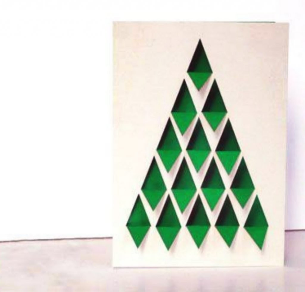 Cut-Out Tree Card Christmas Card Crafts For Toddlers