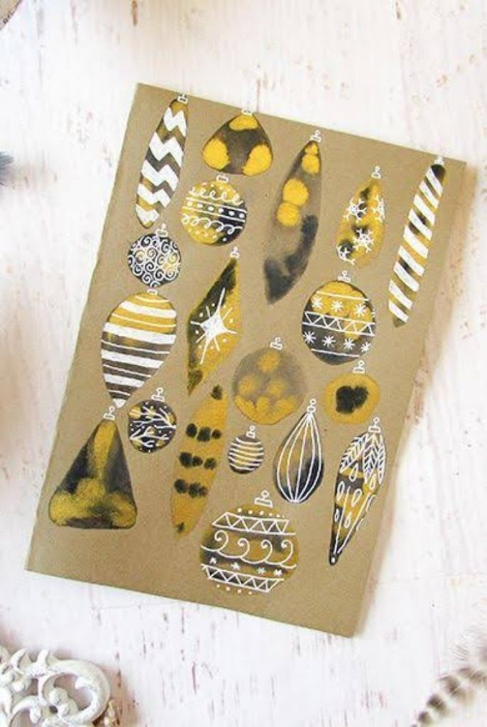 Artsy Ornament Card Christmas Card Crafts For Toddlers