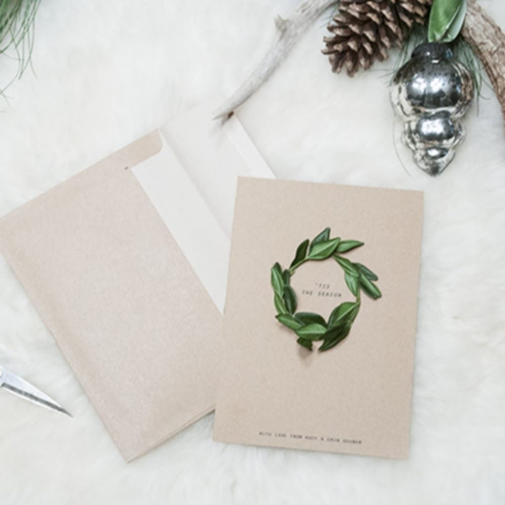 Evergreen Wreath Card Christmas Card Crafts For Toddlers
