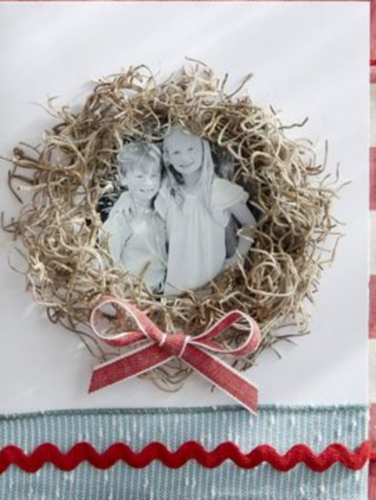 Natural Wreath Card Christmas Card Craft For Adults