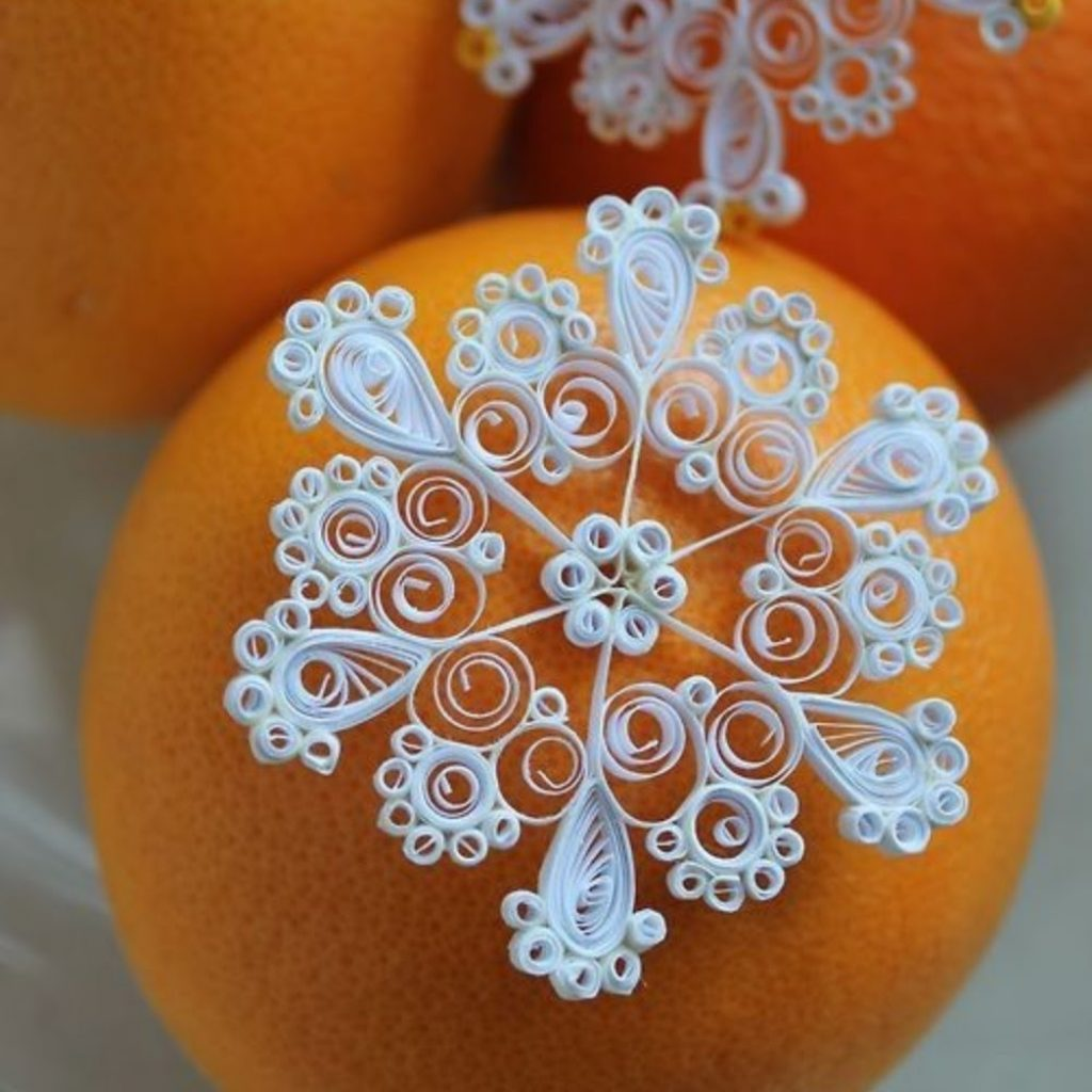 Paper Quilled Snowflakes Christmas Decorations Handmade Paper