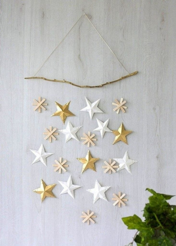 Paper 6-Point Stars - Christmas Decorations Handmade Paper