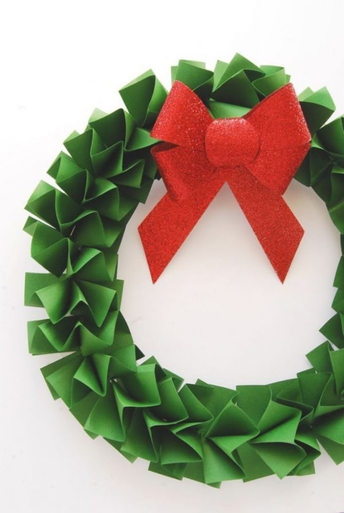 Paper Wreaths - Christmas Decorations Handmade Paper