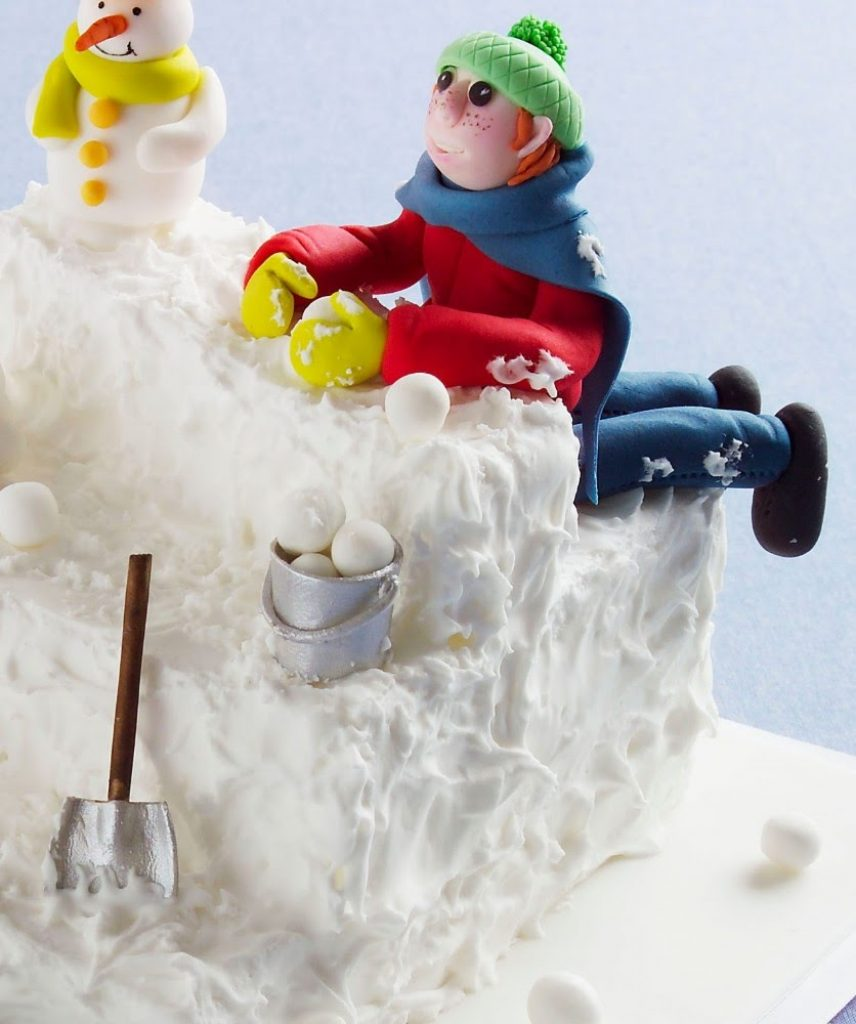Snow much fun cake