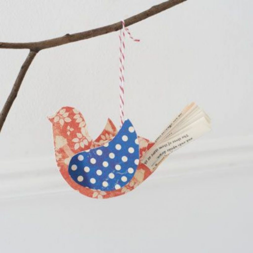 Craft Bird Ornaments - Christmas decorations for dental office