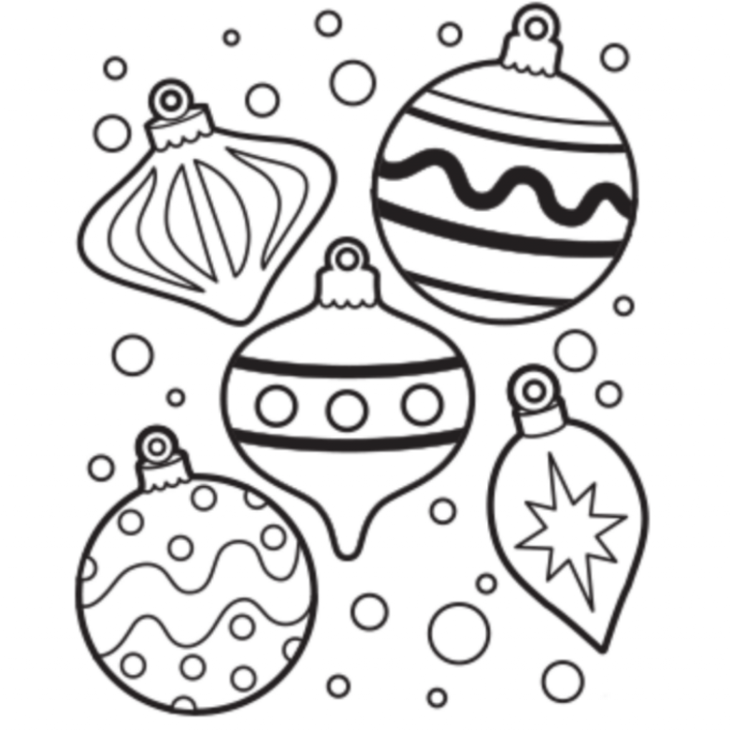 Playful ornaments Drawing of Christmas Decorations