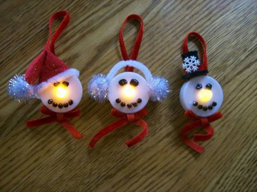 Tea Light Snowman Ornament - Christmas decorations for medical office